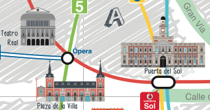 Madrid Map Metro